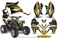 Polaris-Outlaw-90-Graphics-Kit-SpeedX-Yellow-Black