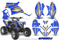 Polaris-Outlaw-90-Graphics-Kit-SpeedX-Yellow-Blue