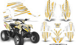 Polaris Outlaw 90 Graphics Kit SpeedX Yellow White 150x90 - Polaris Outlaw 90/110 2002-2016 Graphics