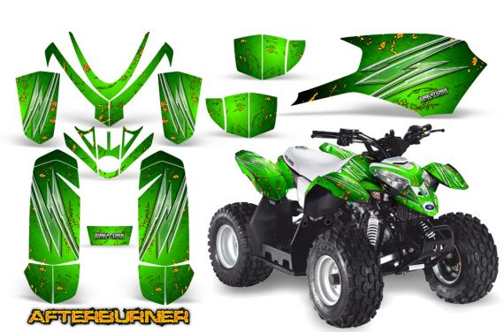 Polaris Outlaw Predator 50 CreatorX Graphics Kit AfterBurner Green1 570x376 - Polaris Outlaw 50 Graphics