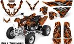 Polaris Predator 500 CreatorX Graphics Kit Bolt Thrower Orange 150x90 - Polaris Predator 500 Graphics
