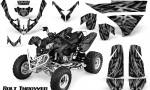 Polaris Predator 500 CreatorX Graphics Kit Bolt Thrower Silver 150x90 - Polaris Predator 500 Graphics