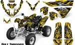 Polaris Predator 500 CreatorX Graphics Kit Bolt Thrower Yellow 150x90 - Polaris Predator 500 Graphics