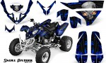 Polaris Predator 500 CreatorX Graphics Kit Skull Patrol Solid Blue Black 150x90 - Polaris Predator 500 Graphics