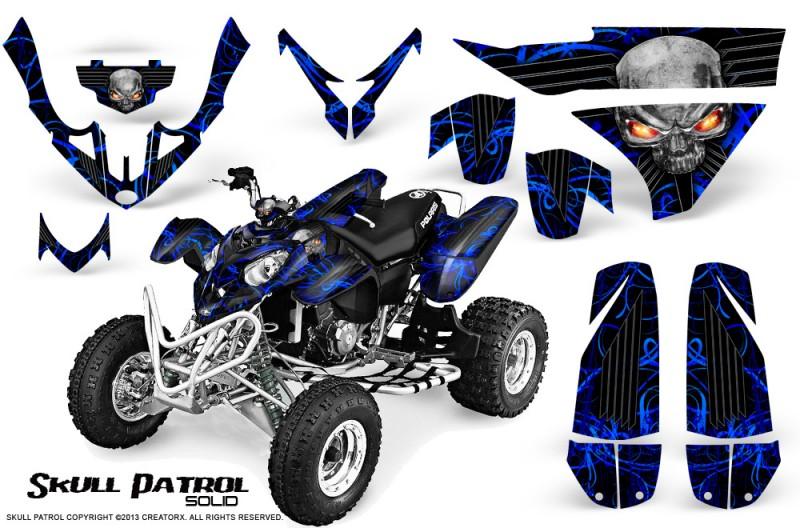Polaris-Predator-500-CreatorX-Graphics-Kit-Skull-Patrol-Solid-Blue-Black