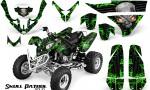 Polaris Predator 500 CreatorX Graphics Kit Skull Patrol Solid Green Black 150x90 - Polaris Predator 500 Graphics