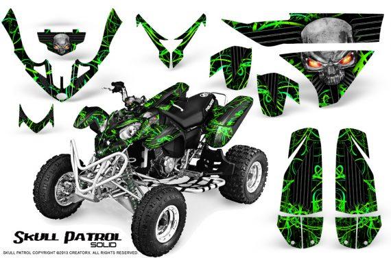 Polaris Predator 500 CreatorX Graphics Kit Skull Patrol Solid Green Black 570x376 - Polaris Predator 500 Graphics