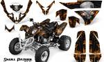 Polaris Predator 500 CreatorX Graphics Kit Skull Patrol Solid Orange Black 150x90 - Polaris Predator 500 Graphics