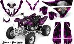 Polaris Predator 500 CreatorX Graphics Kit Skull Patrol Solid Pink Black 150x90 - Polaris Predator 500 Graphics