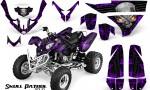 Polaris Predator 500 CreatorX Graphics Kit Skull Patrol Solid Purple Black 150x90 - Polaris Predator 500 Graphics