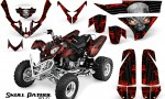 Polaris Predator 500 CreatorX Graphics Kit Skull Patrol Solid Red Black 150x90 - Polaris Predator 500 Graphics