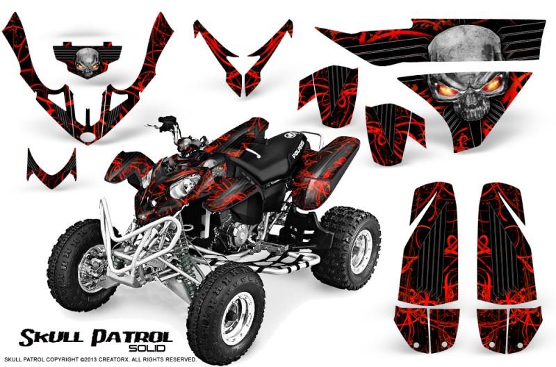 Polaris-Predator-500-CreatorX-Graphics-Kit-Skull-Patrol-Solid-Red-Black
