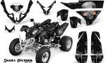 Polaris Predator 500 CreatorX Graphics Kit Skull Patrol Solid Silver Black 150x90 - Polaris Predator 500 Graphics