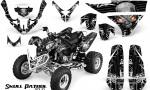 Polaris Predator 500 CreatorX Graphics Kit Skull Patrol Solid White Black 150x90 - Polaris Predator 500 Graphics