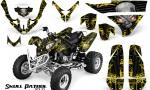 Polaris Predator 500 CreatorX Graphics Kit Skull Patrol Solid Yellow Black 150x90 - Polaris Predator 500 Graphics