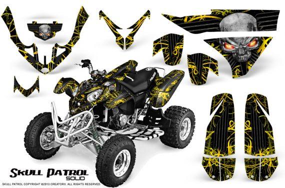 Polaris Predator 500 CreatorX Graphics Kit Skull Patrol Solid Yellow Black 570x376 - Polaris Predator 500 Graphics