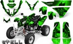 Polaris Predator 500 CreatorX Graphics Kit Spell Green 150x90 - Polaris Predator 500 Graphics