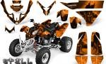 Polaris Predator 500 CreatorX Graphics Kit Spell Orange 150x90 - Polaris Predator 500 Graphics