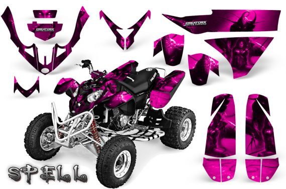 Polaris Predator 500 CreatorX Graphics Kit Spell Pink 570x376 - Polaris Predator 500 Graphics