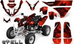 Polaris Predator 500 CreatorX Graphics Kit Spell Red BB 150x90 - Polaris Predator 500 Graphics