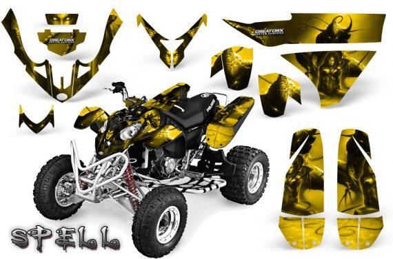 Polaris Predator 500 CreatorX Graphics Kit Spell Yellow 2 570x376 - Polaris Predator 500 Graphics