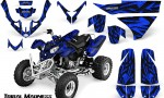Polaris Predator 500 CreatorX Graphics Kit Tribal Madness Blue 150x90 - Polaris Predator 500 Graphics