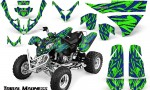 Polaris Predator 500 CreatorX Graphics Kit Tribal Madness Blue Green 150x90 - Polaris Predator 500 Graphics