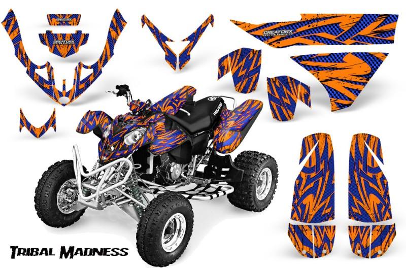 Polaris-Predator-500-CreatorX-Graphics-Kit-Tribal-Madness-Blue-Orange