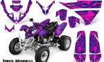 Polaris Predator 500 CreatorX Graphics Kit Tribal Madness Blue Pink 150x90 - Polaris Predator 500 Graphics