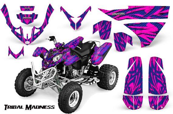 Polaris Predator 500 CreatorX Graphics Kit Tribal Madness Blue Pink 570x376 - Polaris Predator 500 Graphics