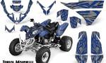 Polaris Predator 500 CreatorX Graphics Kit Tribal Madness Blue Silver 150x90 - Polaris Predator 500 Graphics