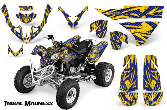 Polaris Predator 500 CreatorX Graphics Kit Tribal Madness Blue Yellow 570x376 - Polaris Predator 500 Graphics