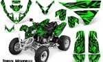 Polaris Predator 500 CreatorX Graphics Kit Tribal Madness Green 150x90 - Polaris Predator 500 Graphics