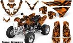 Polaris Predator 500 CreatorX Graphics Kit Tribal Madness Orange 150x90 - Polaris Predator 500 Graphics