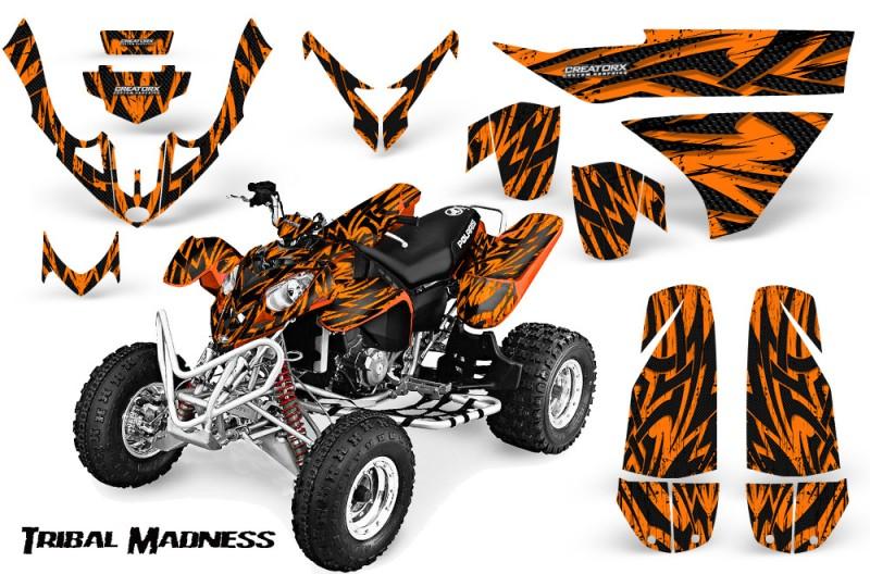 Polaris-Predator-500-CreatorX-Graphics-Kit-Tribal-Madness-Orange