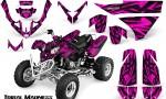 Polaris Predator 500 CreatorX Graphics Kit Tribal Madness Pink 150x90 - Polaris Predator 500 Graphics