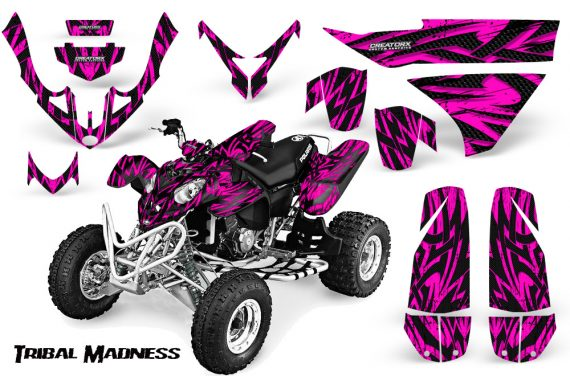 Polaris Predator 500 CreatorX Graphics Kit Tribal Madness Pink 570x376 - Polaris Predator 500 Graphics