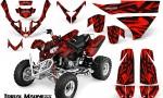 Polaris Predator 500 CreatorX Graphics Kit Tribal Madness Red BB 150x90 - Polaris Predator 500 Graphics