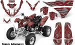 Polaris Predator 500 CreatorX Graphics Kit Tribal Madness Red Silver 150x90 - Polaris Predator 500 Graphics