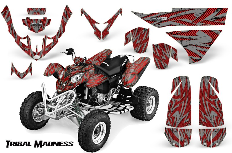 Polaris-Predator-500-CreatorX-Graphics-Kit-Tribal-Madness-Red-Silver