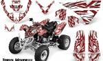 Polaris Predator 500 CreatorX Graphics Kit Tribal Madness Red White 150x90 - Polaris Predator 500 Graphics