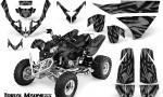 Polaris Predator 500 CreatorX Graphics Kit Tribal Madness Silver 150x90 - Polaris Predator 500 Graphics