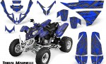 Polaris Predator 500 CreatorX Graphics Kit Tribal Madness Silver Blue 150x90 - Polaris Predator 500 Graphics