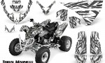 Polaris Predator 500 CreatorX Graphics Kit Tribal Madness Silver White 150x90 - Polaris Predator 500 Graphics