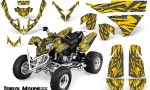 Polaris Predator 500 CreatorX Graphics Kit Tribal Madness Silver Yellow 150x90 - Polaris Predator 500 Graphics