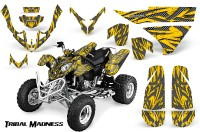 Polaris-Predator-500-CreatorX-Graphics-Kit-Tribal-Madness-Silver-Yellow