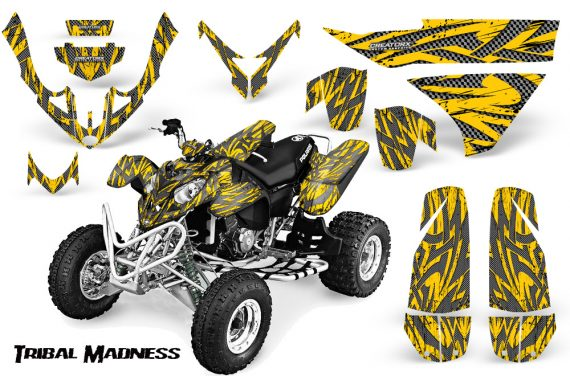 Polaris Predator 500 CreatorX Graphics Kit Tribal Madness Silver Yellow 570x376 - Polaris Predator 500 Graphics