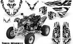 Polaris Predator 500 CreatorX Graphics Kit Tribal Madness White 150x90 - Polaris Predator 500 Graphics