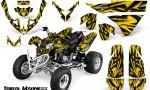 Polaris Predator 500 CreatorX Graphics Kit Tribal Madness Yellow 150x90 - Polaris Predator 500 Graphics