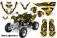 Polaris-Predator-500-CreatorX-Graphics-Kit-Tribal-Madness-Yellow